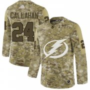 Wholesale Cheap Adidas Lightning #24 Ryan Callahan Camo Authentic Stitched NHL Jersey