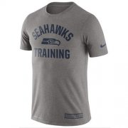Wholesale Cheap Men's Seattle Seahawks Nike Heathered Gray Training Performance T-Shirt