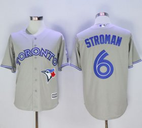 Wholesale Cheap Blue Jays #6 Marcus Stroman Grey New Cool Base 40th Anniversary Stitched MLB Jersey