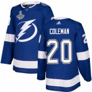 Cheap Adidas Lightning #20 Blake Coleman Blue Home Authentic 2020 Stanley Cup Champions Stitched NHL Jersey