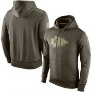 Wholesale Cheap Men's Kansas City Chiefs Nike Olive Salute To Service KO Performance Hoodie