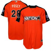 Wholesale Cheap Giants #28 Buster Posey Orange 2017 All-Star National League Stitched MLB Jersey