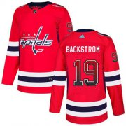 Wholesale Cheap Adidas Capitals #19 Nicklas Backstrom Red Home Authentic Drift Fashion Stitched NHL Jersey