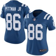 Wholesale Cheap Nike Colts #86 Michael Pittman Jr. Royal Blue Team Color Women's Stitched NFL Vapor Untouchable Limited Jersey