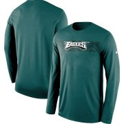 Wholesale Cheap Philadelphia Eagles Nike Sideline Seismic Legend Long Sleeve T-Shirt Green
