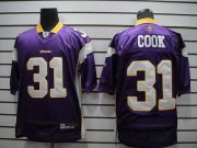 Wholesale Cheap Vikings #31 Chris Cook Purple Stitched NFL Jersey