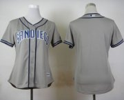 Wholesale Cheap Padres Blank Grey Road Women's Stitched MLB Jersey