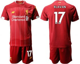 Wholesale Cheap Liverpool #17 Klavan Red Home Soccer Club Jersey
