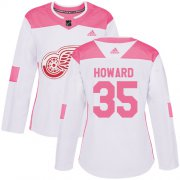 Wholesale Cheap Adidas Red Wings #35 Jimmy Howard White/Pink Authentic Fashion Women's Stitched NHL Jersey