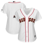 Wholesale Cheap Boston Red Sox Majestic Women's 2019 Gold Program Cool Base Team Jersey White