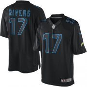 Wholesale Cheap Nike Chargers #17 Philip Rivers Black Men's Stitched NFL Impact Limited Jersey