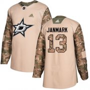 Wholesale Cheap Adidas Stars #13 Mattias Janmark Camo Authentic 2017 Veterans Day Youth Stitched NHL Jersey