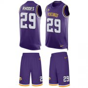 Wholesale Cheap Nike Vikings #29 Xavier Rhodes Purple Team Color Men's Stitched NFL Limited Tank Top Suit Jersey