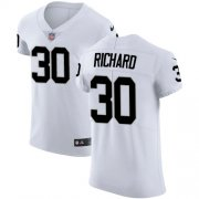 Wholesale Cheap Nike Raiders #30 Jalen Richard White Men's Stitched NFL Vapor Untouchable Elite Jersey