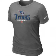 Wholesale Cheap Women's Nike Tennessee Titans Critical Victory NFL T-Shirt Dark Grey