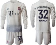 Wholesale Cheap Bayern Munchen #32 Kimmich Away Long Sleeves Soccer Club Jersey