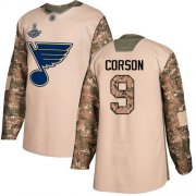 Wholesale Cheap Adidas Blues #9 Shayne Corson Camo Authentic 2017 Veterans Day Stanley Cup Champions Stitched NHL Jersey