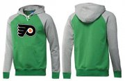 Wholesale Cheap Philadelphia Flyers Pullover Hoodie Green & Grey