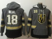 Wholesale Cheap Golden Knights #18 James Neal Grey Name & Number Pullover NHL Hoodie