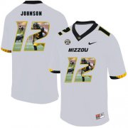 Wholesale Cheap Missouri Tigers 12 Johnathon Johnson White Nike Fashion College Football Jersey