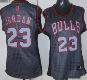 Wholesale Cheap Chicago Bulls #23 Michael Jordan Black Rhythm Fashion Womens Jersey