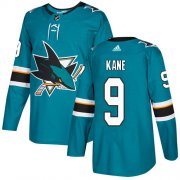 Wholesale Cheap Adidas Sharks #9 Evander Kane Teal Home Authentic Stitched Youth NHL Jersey