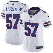 Wholesale Cheap Nike Bills #57 Lorenzo Alexander White Women's Stitched NFL Vapor Untouchable Limited Jersey