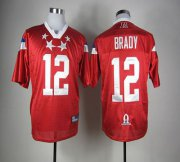 Wholesale Cheap Patriots #12 Tom Brady Red 2012 Pro Bowl Stitched NFL Jersey