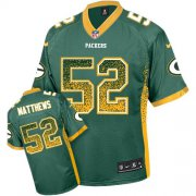 Wholesale Cheap Nike Packers #52 Clay Matthews Green Team Color Youth Stitched NFL Elite Drift Fashion Jersey