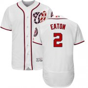 Wholesale Cheap Nationals #2 Adam Eaton White Flexbase Authentic Collection Stitched MLB Jersey