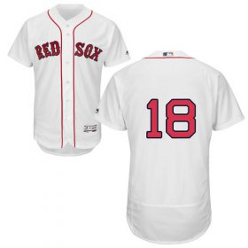 Wholesale Cheap Red Sox #18 Mitch Moreland White Flexbase Authentic Collection Stitched MLB Jersey