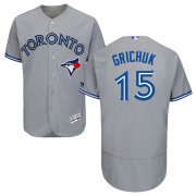 Wholesale Cheap Blue Jays #15 Randal Grichuk Grey Flexbase Authentic Collection Stitched MLB Jersey