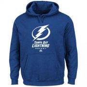 Wholesale Cheap Tampa Bay Lightning Majestic Critical Victory VIII Fleece Hoodie Royal Blue