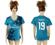 Wholesale Cheap Women's Real Madrid #19 Modric Sec Away Soccer Club Jersey