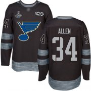 Wholesale Cheap Adidas Blues #34 Jake Allen Black 1917-2017 100th Anniversary Stanley Cup Champions Stitched NHL Jersey