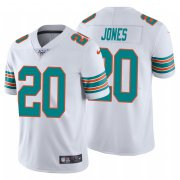 Wholesale Cheap Nike Dolphins #20 Reshad Jones White Alternate Men's Stitched NFL 100th Season Vapor Untouchable Limited Jersey