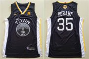 Wholesale Cheap Nike Golden State Warriors #35 Kevin Durant Black City Edition 2018 NBA Finals Nike Swingman Jersey