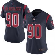 Wholesale Cheap Nike Texans #90 Ross Blacklock Navy Blue Women's Stitched NFL Limited Rush Jersey