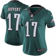 Wholesale Cheap Nike Eagles #17 Alshon Jeffery Midnight Green Team Color Women's Stitched NFL Vapor Untouchable Limited Jersey