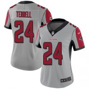 Wholesale Cheap Nike Falcons #24 A.J. Terrell Silver Women's Stitched NFL Limited Inverted Legend Jersey