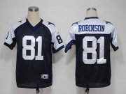 Wholesale Cheap Cowboys #81 Laurent Robinson Blue Thanksgiving Stitched NFL Jersey