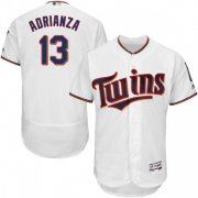 Wholesale Cheap Twins #13 Ehire Adrianza White Flexbase Authentic Collection Stitched MLB Jersey