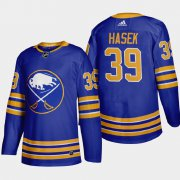Cheap Buffalo Sabres #39 Dominik Hasek Men's Adidas 2020-21 Home Authentic Player Stitched NHL Jersey Royal Blue
