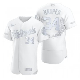 Wholesale Cheap Washington Nationals #34 Bryce Harper Men\'s Nike Platinum MLB MVP Limited Player Edition Jersey
