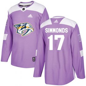 Wholesale Cheap Adidas Predators #17 Wayne Simmonds Purple Authentic Fights Cancer Stitched NHL Jersey