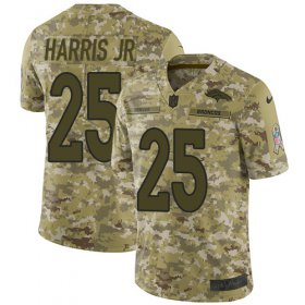 Wholesale Cheap Nike Broncos #25 Chris Harris Jr Camo Men\'s Stitched NFL Limited 2018 Salute To Service Jersey