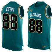 Wholesale Cheap Nike Jaguars #88 Tyler Eifert Teal Green Alternate Men's Stitched NFL Limited Tank Top Jersey