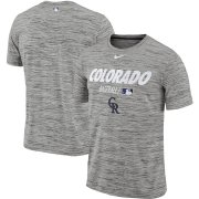 Wholesale Cheap Colorado Rockies Nike Authentic Collection Velocity Team Issue Performance T-Shirt Gray