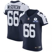 Wholesale Cheap Nike Cowboys #66 Connor McGovern Navy Blue Thanksgiving Men's Stitched With Established In 1960 Patch NFL Vapor Untouchable Throwback Elite Jersey