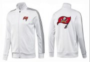 Wholesale Cheap NFL Tampa Bay Buccaneers Team Logo Jacket White_1